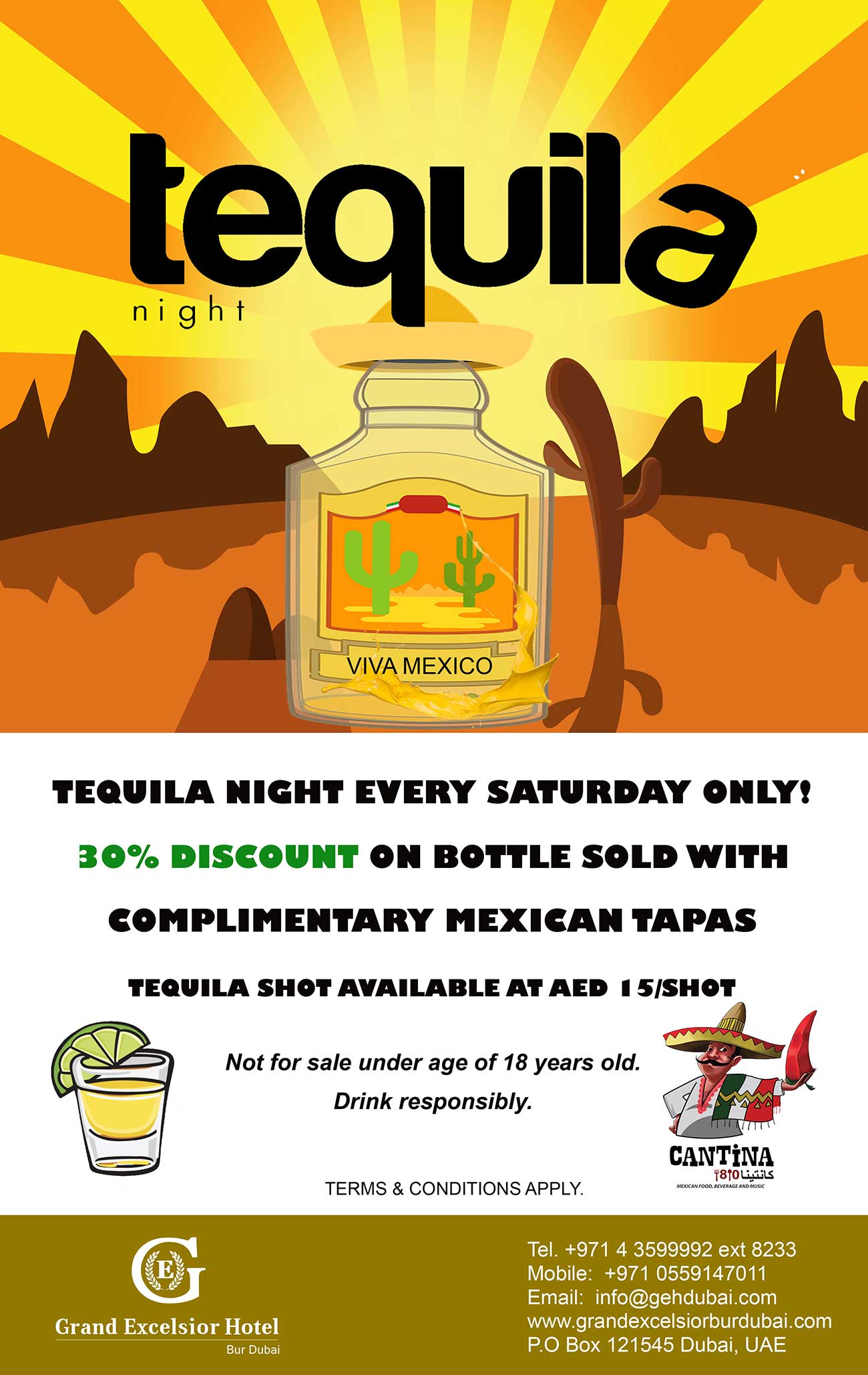 Saturday Tequila Night